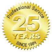 over 25 years of professional experience